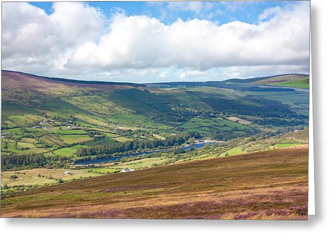 Beek Greeting Cards - Lake in Wicklow Valley Greeting Card by Semmick Photo