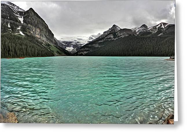 Gregory Dyer Greeting Cards - Lake Louise - Banff National Park - Alberta Canada Greeting Card by Gregory Dyer