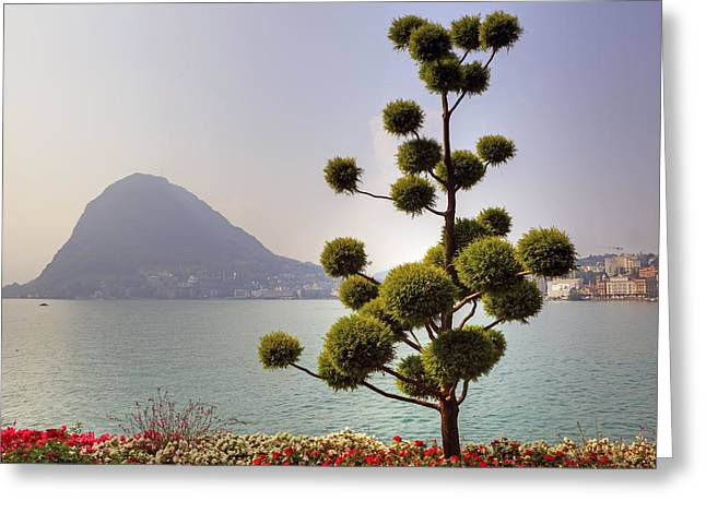 Lake Lugano - Monte Salvatore Greeting Card by Joana Kruse