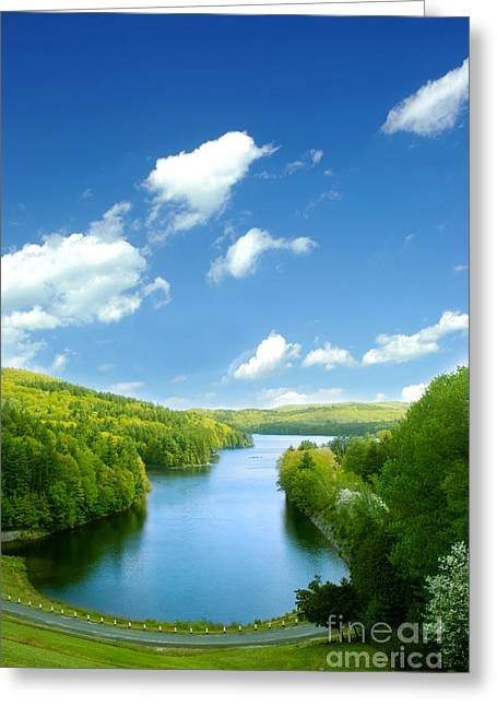 Connecticut Landscapes Greeting Cards - Lake MacDonough Greeting Card by HD Connelly