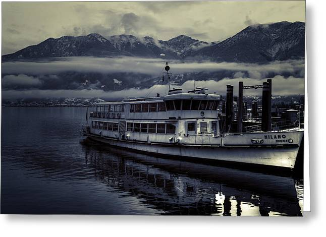 Lake Maggiore Greeting Cards - Lake Maggiore in winter Greeting Card by Joana Kruse