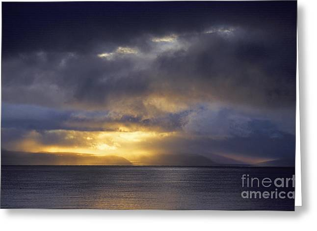 Tibetan Region Greeting Cards - Lake Manasarovar Sunset - Tibet Greeting Card by Craig Lovell