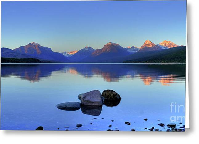 Lake Mcdonald Greeting Cards - Lake McDonald Greeting Card by Dave Hampton Photography
