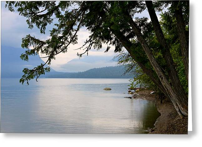 Lake Mcdonald Greeting Cards - Lake McDonald Glacier National Park Montana Greeting Card by Karon Melillo DeVega