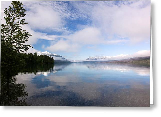 Montana Landscapes Photographs Greeting Cards - Lake McDonald in the Morning Greeting Card by Amanda Kiplinger