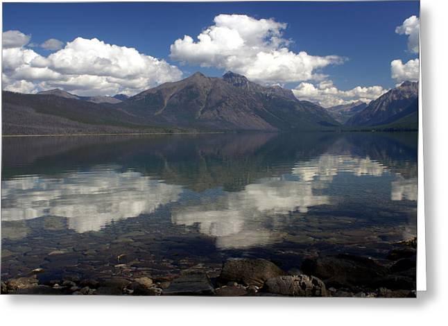 Marty Koch Greeting Cards - Lake Mcdonald Reflection Glacier National Park Greeting Card by Marty Koch