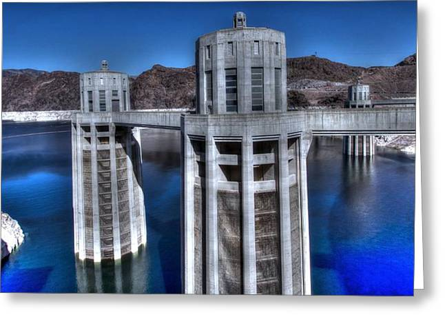 Hoover Greeting Cards - Lake Mead Hoover Dam Greeting Card by Jonathan Davison