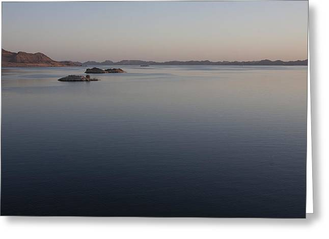 Reflections In River Greeting Cards - Lake Nasser, Formed When The Nile Greeting Card by Taylor S. Kennedy