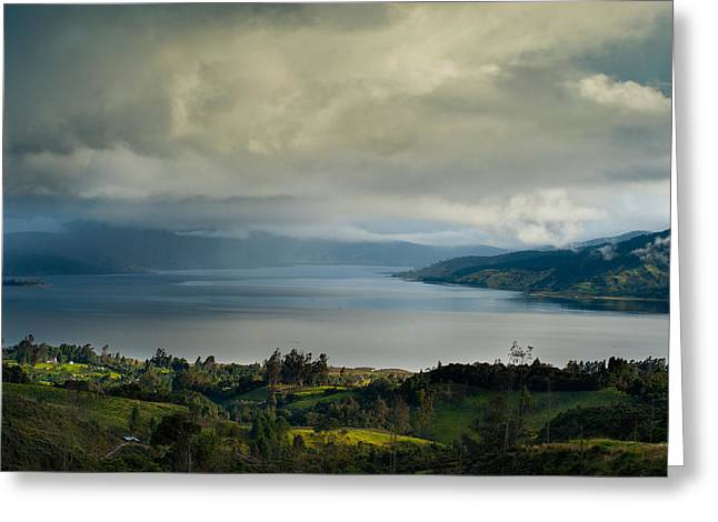 Colombia Greeting Cards - Lake of the Cocha.Colombia Greeting Card by Eric Bauer