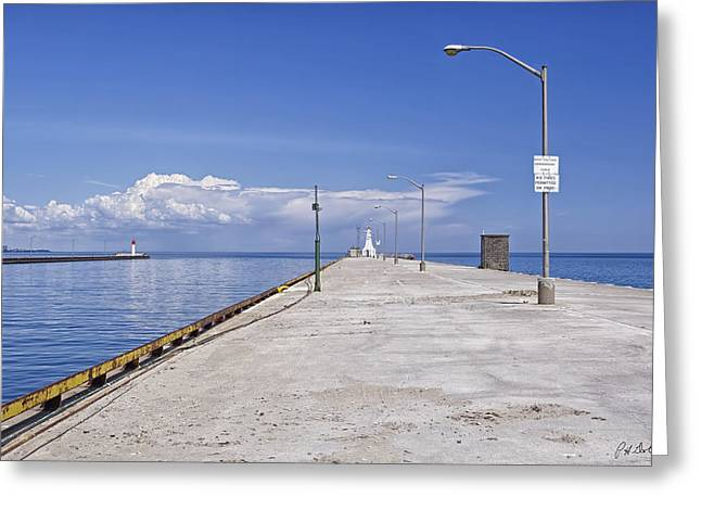 Pier Prints Greeting Cards - Lake Ontario Pier Greeting Card by Phill  Doherty