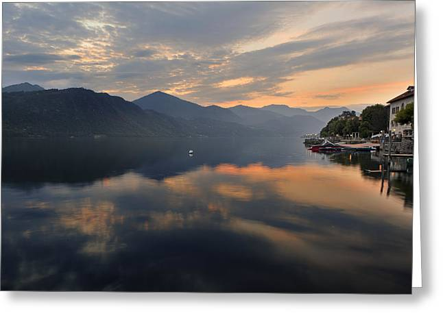 Piedmont Greeting Cards - Lake Orta Greeting Card by Joana Kruse