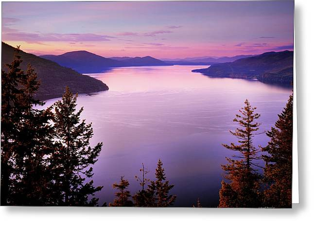 Lake Pend Oreille Greeting Cards - Lake Pend Oreille 2 Greeting Card by Leland D Howard