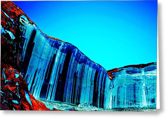 Desert Lake Greeting Cards - Lake Powell Blue Ice Greeting Card by Rebecca Margraf