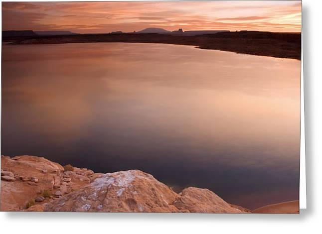 Lake Powell Dawn Greeting Card by Mike  Dawson