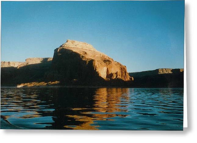 Smooth Pyrography Greeting Cards - Lake Powell in Arizona Greeting Card by Karen Chappell
