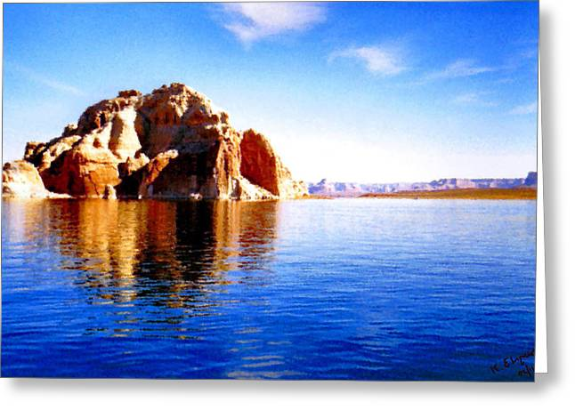 Clean Water Digital Art Greeting Cards - Lake Powell Greeting Card by Kristin Elmquist