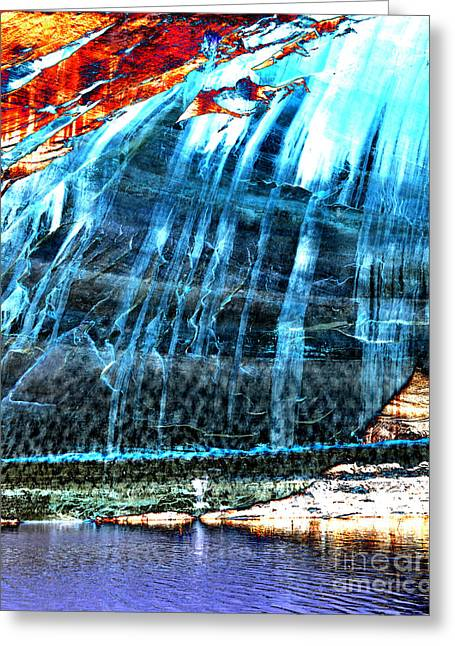 Desert Lake Greeting Cards - Lake Powell Reflection Greeting Card by Rebecca Margraf
