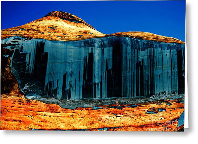 Desert Lake Greeting Cards - Lake Powell Stripe Greeting Card by Rebecca Margraf