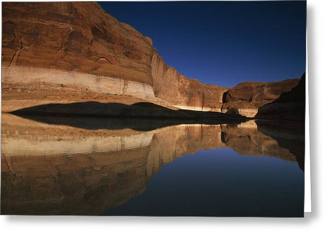 Glen Canyon National Recreation Area Greeting Cards - Lake Powells Tranquil Waters Cover Greeting Card by Frans Lanting