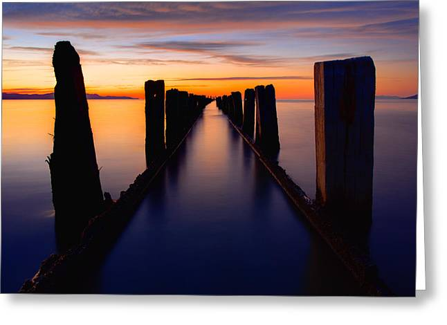 Lake Reflection Greeting Card by Chad Dutson