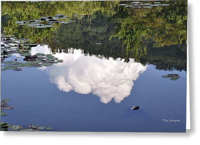 Kay Lovingood Greeting Cards - Lake Reflection Greeting Card by Kay Lovingood