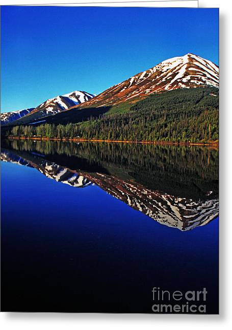 Pm Greeting Cards - Lake Reflection Greeting Card by Thomas R Fletcher