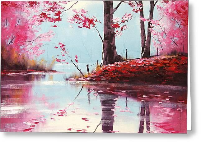 Lake Reflections Greeting Card by Graham Gercken