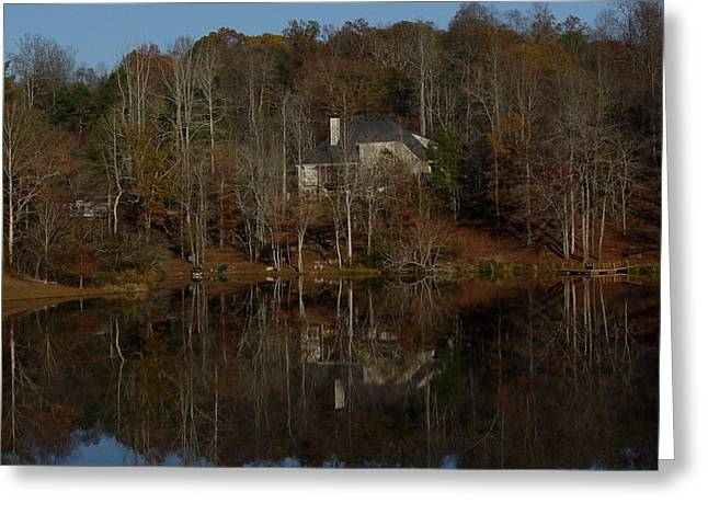 Fall Tapestries - Textiles Greeting Cards - Lake Reflections Greeting Card by Marc Mesa