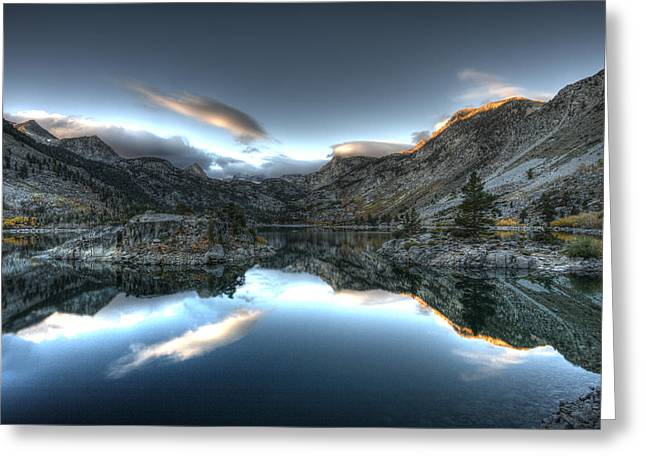 Hdr Photo Greeting Cards - Lake Sabrina Bishop Ca Greeting Card by Joe  Palermo