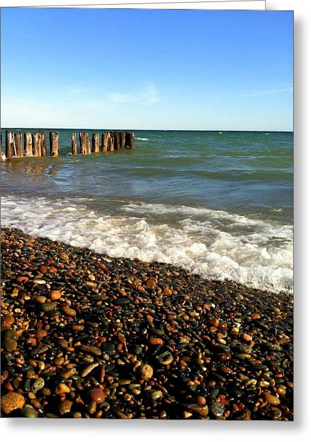 Upper Peninsula Greeting Cards - Lake Superior at Whitefish Point Greeting Card by Michelle Calkins