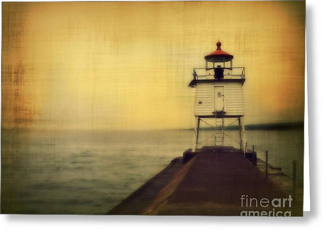 Minnesota Fishing Greeting Cards - Lake Superior Classic Greeting Card by Perry Webster