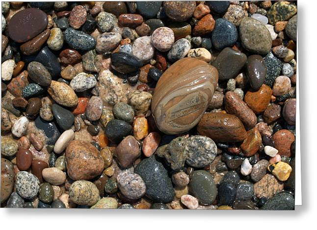 Agate Beach Greeting Cards - Lake Superior Stones Greeting Card by Don Newsom