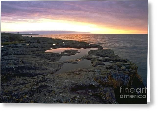 Superior Sunrise Greeting Cards - Lake Superior Sunrise Greeting Card by Sven Brogren