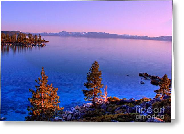 Incline Photographs Greeting Cards - Lake Tahoe Serenity Greeting Card by Scott McGuire