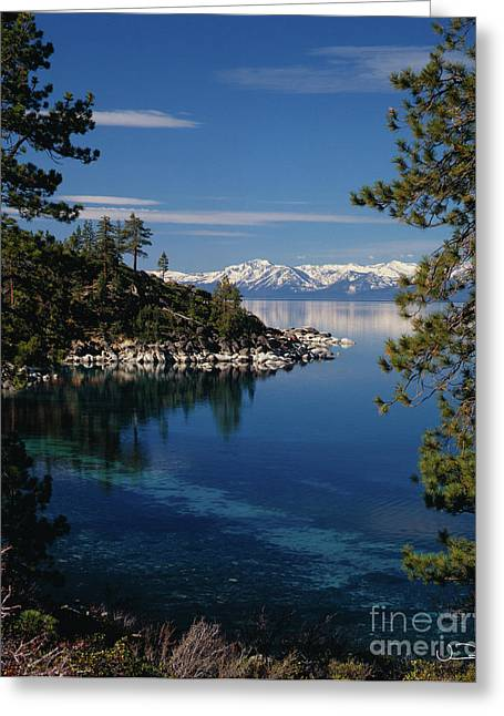 Depth Greeting Cards - Lake Tahoe Smooth Greeting Card by Vance Fox