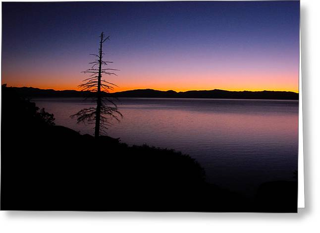 Sand Harbor Greeting Cards - Lake Tahoe Sunset Gradient Greeting Card by Scott McGuire