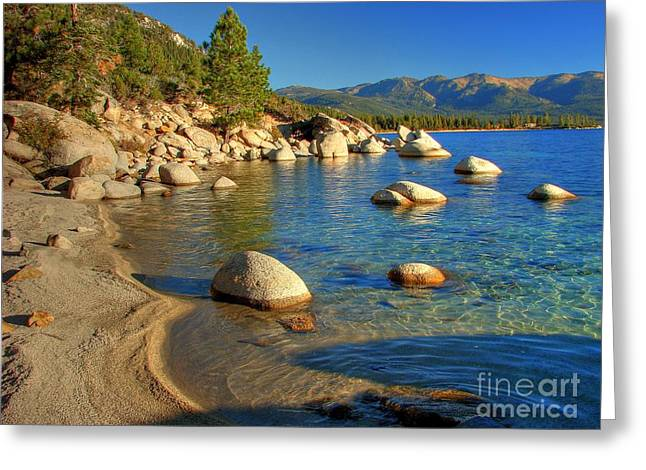 Granite Greeting Cards - Lake Tahoe Tranquility Greeting Card by Scott McGuire