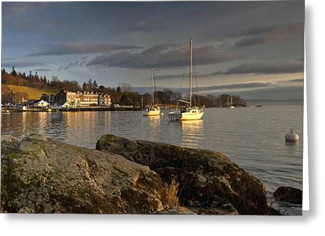 Sailboat Images Greeting Cards - Lake Windermere Ambleside, Cumbria Greeting Card by John Short