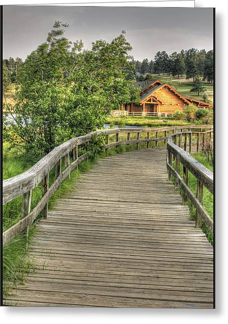 Stellina Giannitsi Greeting Cards - Lakehouse in Evergreen Greeting Card by Stellina Giannitsi