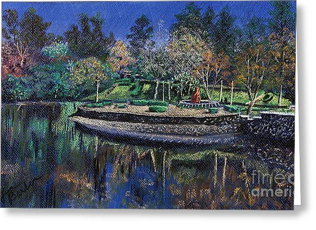 Duke Pastels Greeting Cards - Lakes of the Dike 1 Greeting Card by Jim Barber Hove