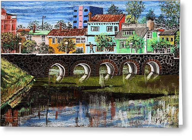 Duke Pastels Greeting Cards - Lakes of the Dike 2 Greeting Card by Jim Barber Hove