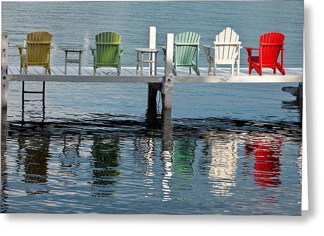 Wisconsin Greeting Cards - Lakeside Living Greeting Card by Steve Gadomski