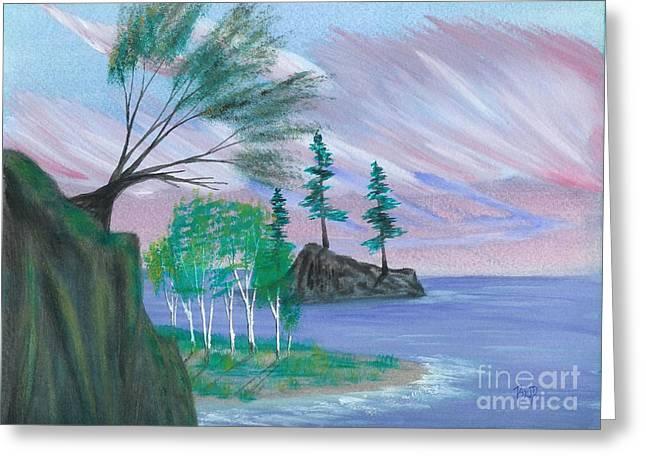 lakeside symphony Greeting Card by Robert Meszaros