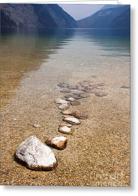 Lakestones Greeting Card by Andrew  Michael