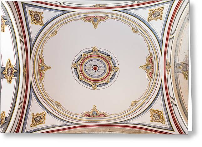 Stanbul Greeting Cards - Laleli Mosque Ceiling Greeting Card by Artur Bogacki