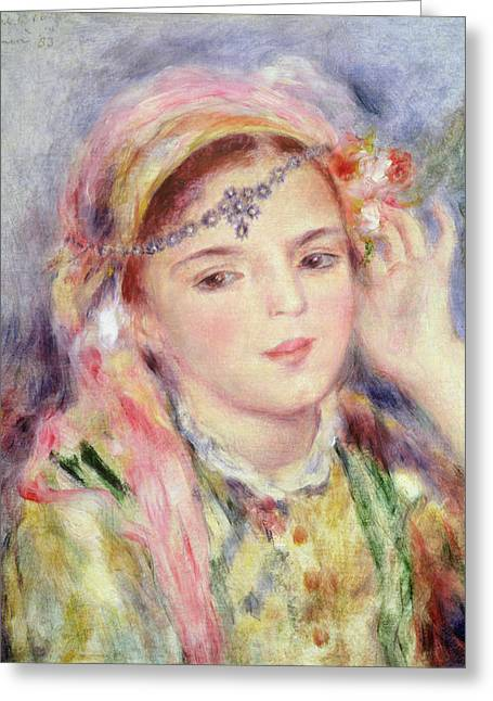 Rosary Greeting Cards - LAlgerienne Greeting Card by Pierre Auguste Renoir