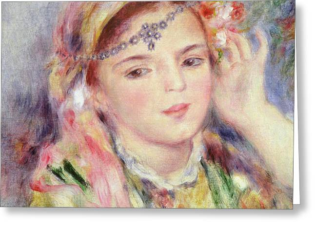 L'Algerienne Greeting Card by Pierre Auguste Renoir