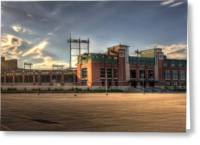 Vince Greeting Cards - Lambeau Field Greeting Card by Joel Witmeyer