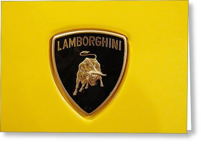 Lamborghini Logo Greeting Card by Sydney Alvares