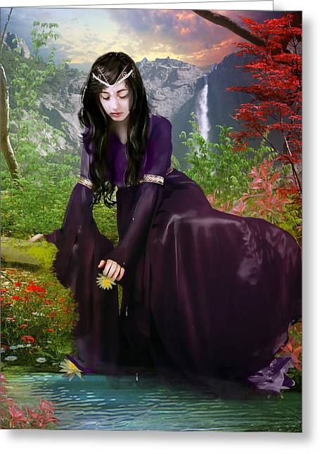 Elven Greeting Cards - Lament Greeting Card by Karen K